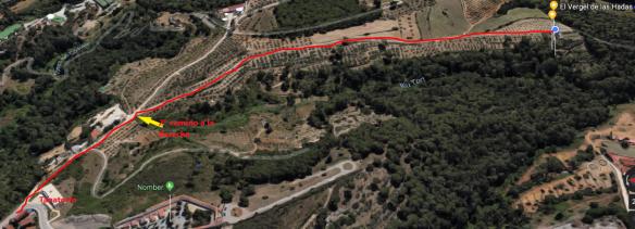 Plano para llegar a El Vergel de las Hadas desde el tanatorio de Castellar 1,jpg.